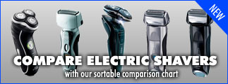 electric shaver comparison chart